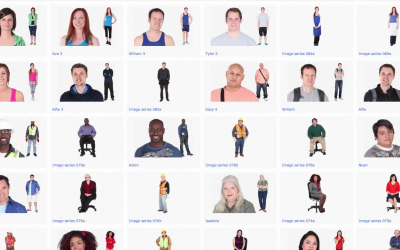 Overview of Cutout People Image Library