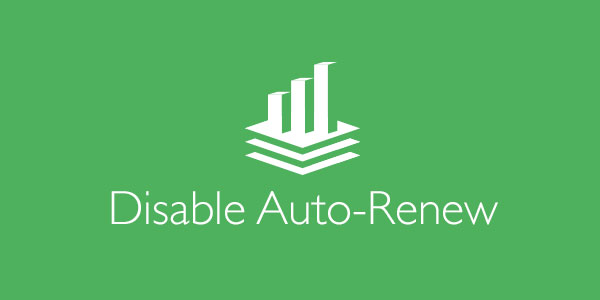 How to disable auto-renew