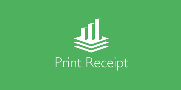 How to print a reciept